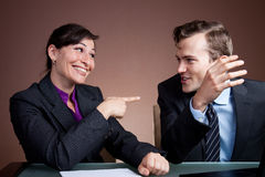 Business deal being struck Royalty Free Stock Image