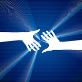 Business deal  on blue background. Illustration Stock Images