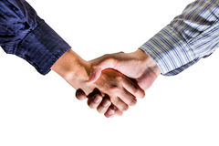Business deal finalized, congratulations Stock Photography
