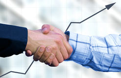 Business deal with graph Royalty Free Stock Image