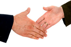 Business deal - handshake Royalty Free Stock Photo