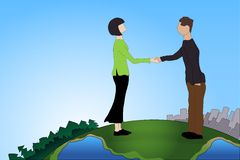 Business deal. Handshake. This is file of EPS10 format Royalty Free Stock Images