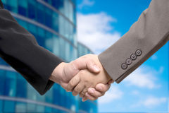 Business deal, handshake Royalty Free Stock Images