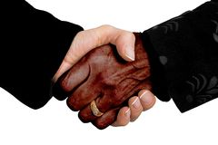 Business deal - multiracial Royalty Free Stock Photo