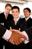 Business deal at the office Stock Photography