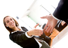 Business deal in an office Stock Photography