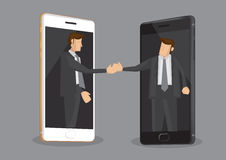 Business Deal Over Modern Technology Vector Illustration Royalty Free Stock Photo
