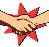 Business deal.Vector hands. Vector hands. Symbol on white Royalty Free Stock Images