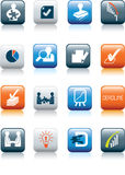 Business Deals Icon Set Royalty Free Stock Photos