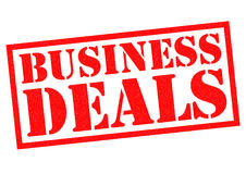 BUSINESS DEALS Stock Photo