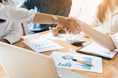 Business Deals Shaking Hands ,Business People Meeting Conference stock photo