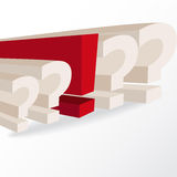 Business decision, conceptual illustration with question marks a Royalty Free Stock Photography