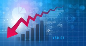 Free Business Decline Chart Royalty Free Stock Image - 120021906