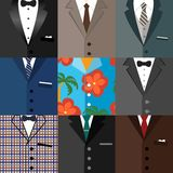 Business decorative icons set of suits Stock Photography