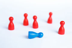 Business defeat or crime scene concept with game pieces Stock Photo