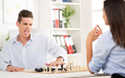 Business defeat Royalty Free Stock Photo