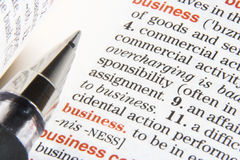 Business definition Stock Photos