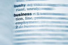 Business definition in close-up Stock Photo