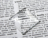 Business definition Stock Image