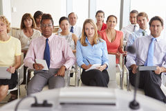 Business Delegates Listening To Presentation At Conference royalty free stock photo