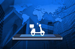 Business delivery service concept, Elements of this image furnis Stock Photos