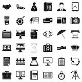 Business department icons set, simple style Stock Photos
