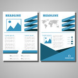 Business design Brochure Flyer design Layout template, size A4,. Front page and back page  eps 10  illustration Royalty Free Stock Image