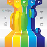 Business design concept. Background Royalty Free Stock Images