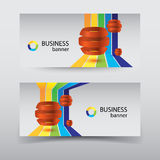 Business design concept. banners set Stock Images