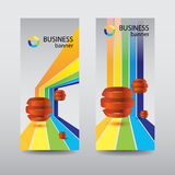 Business design concept. banners set Royalty Free Stock Photos
