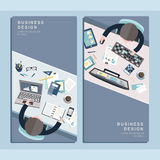 Business design concept in flat design Royalty Free Stock Photography
