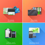Business Design Concept Set Stock Photo