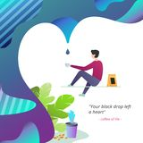 Business design concepts for Coffee Inspiration stock illustration