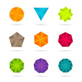 Business Design elements ( icon ) set for print and web Stock Photos