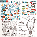 Business design elements vector set Stock Images