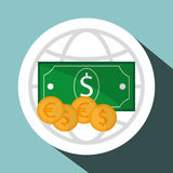 Business design. Financial item icon. Flat illustration. Business concept with icon design,  illustration 10 eps graphic Stock Image