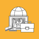 Business design. Financial item icon. Flat illustration. Business concept with icon design,  illustration 10 eps graphic Royalty Free Stock Image