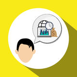 Business design. Financial item icon. Flat illustration. Business concept with icon design,  illustration 10 eps graphic Royalty Free Stock Photography