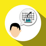 Business design. Financial item icon. Flat illustration. Business concept with icon design,  illustration 10 eps graphic Royalty Free Stock Images
