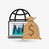 Business design. Financial item icon. Flat illustration. Business concept with icon design, vector illustration 10 eps graphic Royalty Free Stock Images