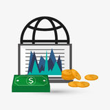 Business design. Financial item icon. Flat illustration. Business concept with icon design, vector illustration 10 eps graphic Stock Photos