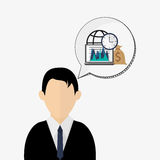Business design. Financial item icon. Flat illustration. Business concept with icon design, vector illustration 10 eps graphic Royalty Free Stock Image