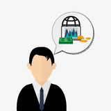 Business design. Financial item icon. Flat illustration. Business concept with icon design, vector illustration 10 eps graphic Stock Photography