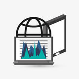 Business design. Financial item icon. Flat illustration. Business concept with icon design, vector illustration 10 eps graphic Stock Image