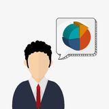 Business design. Financial item icon. Flat illustration. Business concept with icon design, vector illustration 10 eps graphic Stock Images