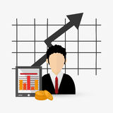 Business design. Financial item icon. Flat illustration. Business concept with icon design, vector illustration 10 eps graphic Royalty Free Stock Photos
