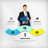 Business design illustration Royalty Free Stock Images
