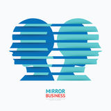 Business design mirror concept vector illustration . Royalty Free Stock Images
