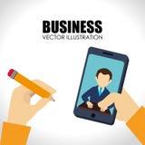 Business design over white backgroundvector illustration Royalty Free Stock Image