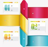 Business Design Template with color ribbon banners Stock Photo